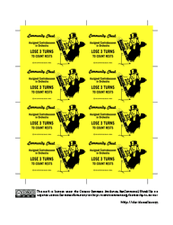 Community Contra Card Sheet (yellow)