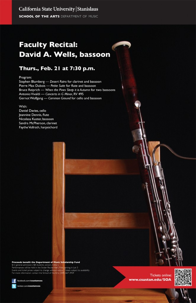 CSU Stanislaus Recital Poster