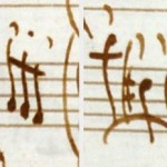 Two examples of Vivaldi's articulation marks