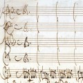Beginning of the Allegro, showing unison writing