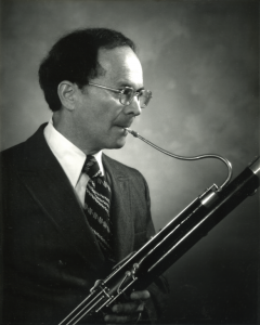 Bernard Garfield in the mid-1960s, with his black 7000-series Heckel