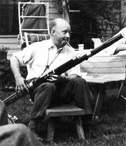 Hindemith playing his Heckel bassoon, 1940